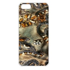 Texture Textile Beads Beading Apple Iphone 5 Seamless Case (white)