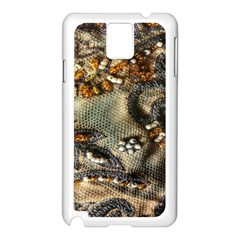 Texture Textile Beads Beading Samsung Galaxy Note 3 N9005 Case (white)