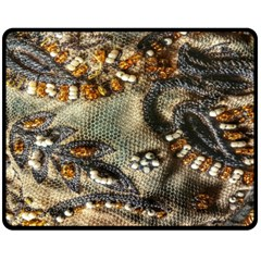 Texture Textile Beads Beading Double Sided Fleece Blanket (medium)