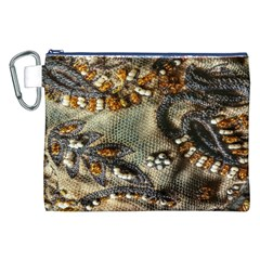 Texture Textile Beads Beading Canvas Cosmetic Bag (xxl)