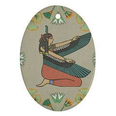 Egyptian Woman Wings Design Ornament (oval)