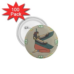 Egyptian Woman Wings Design 1 75  Buttons (100 Pack)
