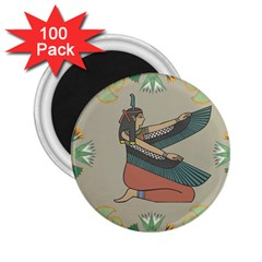 Egyptian Woman Wings Design 2 25  Magnets (100 Pack)