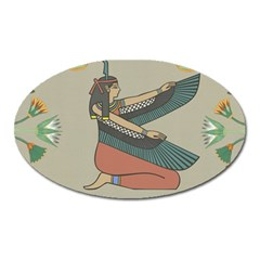 Egyptian Woman Wings Design Oval Magnet