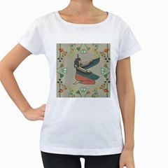 Egyptian Woman Wings Design Women s Loose Fit T Shirt (white)