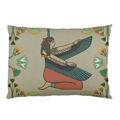 Egyptian Woman Wings Design Pillow Case