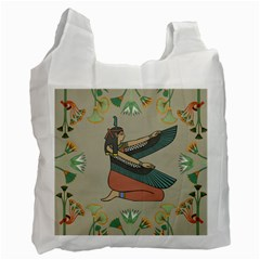Egyptian Woman Wings Design Recycle Bag (two Side)