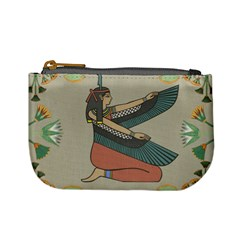 Egyptian Woman Wings Design Mini Coin Purses
