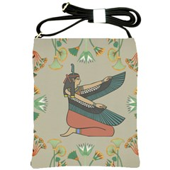 Egyptian Woman Wings Design Shoulder Sling Bags