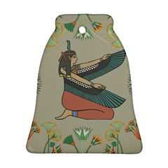 Egyptian Woman Wings Design Bell Ornament (two Sides)
