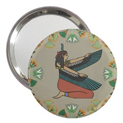 Egyptian Woman Wings Design 3  Handbag Mirrors