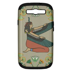 Egyptian Woman Wings Design Samsung Galaxy S Iii Hardshell Case (pc+silicone)