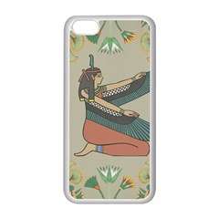 Egyptian Woman Wings Design Apple Iphone 5c Seamless Case (white)