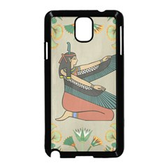 Egyptian Woman Wings Design Samsung Galaxy Note 3 Neo Hardshell Case (black)