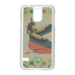 Egyptian Woman Wings Design Samsung Galaxy S5 Case (white)