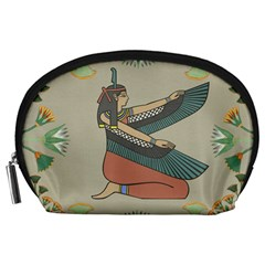 Egyptian Woman Wings Design Accessory Pouches (large)