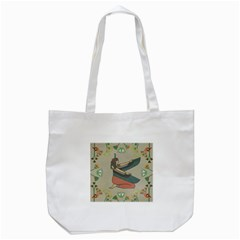 Egyptian Woman Wings Design Tote Bag (white)