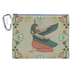 Egyptian Woman Wings Design Canvas Cosmetic Bag (xxl)