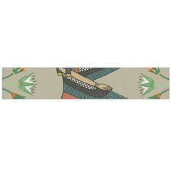 Egyptian Woman Wings Design Large Flano Scarf