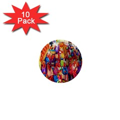 Guatemala Art Painting Naive 1  Mini Buttons (10 Pack)