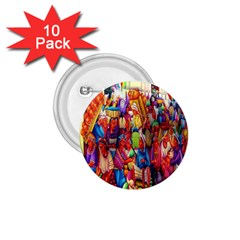 Guatemala Art Painting Naive 1 75  Buttons (10 Pack)