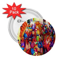 Guatemala Art Painting Naive 2 25  Buttons (10 Pack)