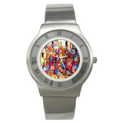 Guatemala Art Painting Naive Stainless Steel Watch