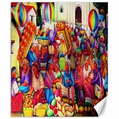 Guatemala Art Painting Naive Canvas 20  X 24