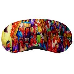 Guatemala Art Painting Naive Sleeping Masks
