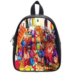 Guatemala Art Painting Naive School Bag (small)