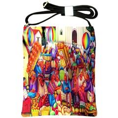 Guatemala Art Painting Naive Shoulder Sling Bags