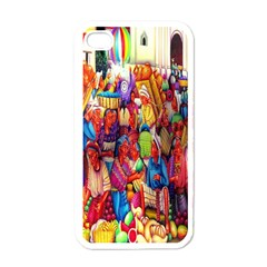 Guatemala Art Painting Naive Apple Iphone 4 Case (white)