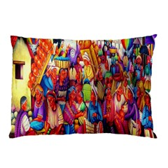 Guatemala Art Painting Naive Pillow Case (two Sides)