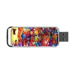 Guatemala Art Painting Naive Portable Usb Flash (one Side)