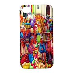 Guatemala Art Painting Naive Apple Iphone 4/4s Hardshell Case With Stand