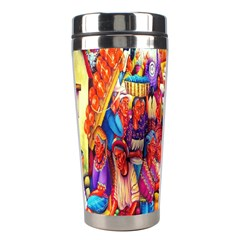Guatemala Art Painting Naive Stainless Steel Travel Tumblers