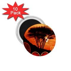 Africa Safari Summer Sun Nature 1 75  Magnets (10 Pack)