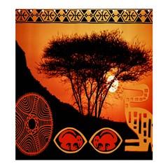 Africa Safari Summer Sun Nature Shower Curtain 66  X 72  (large)