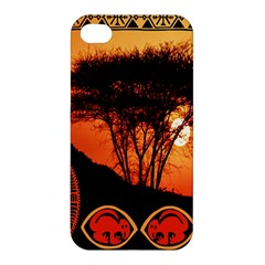 Africa Safari Summer Sun Nature Apple Iphone 4/4s Premium Hardshell Case