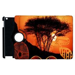 Africa Safari Summer Sun Nature Apple Ipad 3/4 Flip 360 Case
