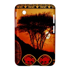 Africa Safari Summer Sun Nature Samsung Galaxy Tab 2 (7 ) P3100 Hardshell Case