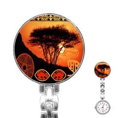 Africa Safari Summer Sun Nature Stainless Steel Nurses Watch