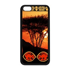 Africa Safari Summer Sun Nature Apple Iphone 5c Seamless Case (black)