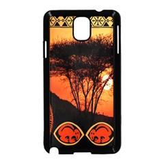 Africa Safari Summer Sun Nature Samsung Galaxy Note 3 Neo Hardshell Case (black)