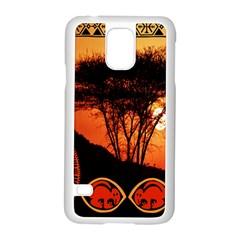 Africa Safari Summer Sun Nature Samsung Galaxy S5 Case (white)