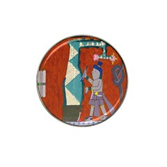 Mexico Puebla Mural Ethnic Aztec Hat Clip Ball Marker (10 Pack)