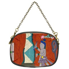 Mexico Puebla Mural Ethnic Aztec Chain Purses (two Sides)