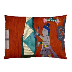 Mexico Puebla Mural Ethnic Aztec Pillow Case