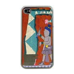 Mexico Puebla Mural Ethnic Aztec Apple Iphone 4 Case (clear)