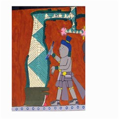 Mexico Puebla Mural Ethnic Aztec Large Garden Flag (two Sides)